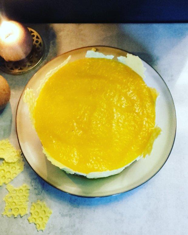 bavarois mousse au miel et mangue