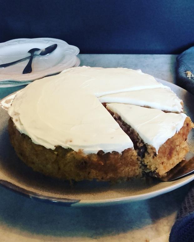 carrot cake sans gluten à la vapeur douce