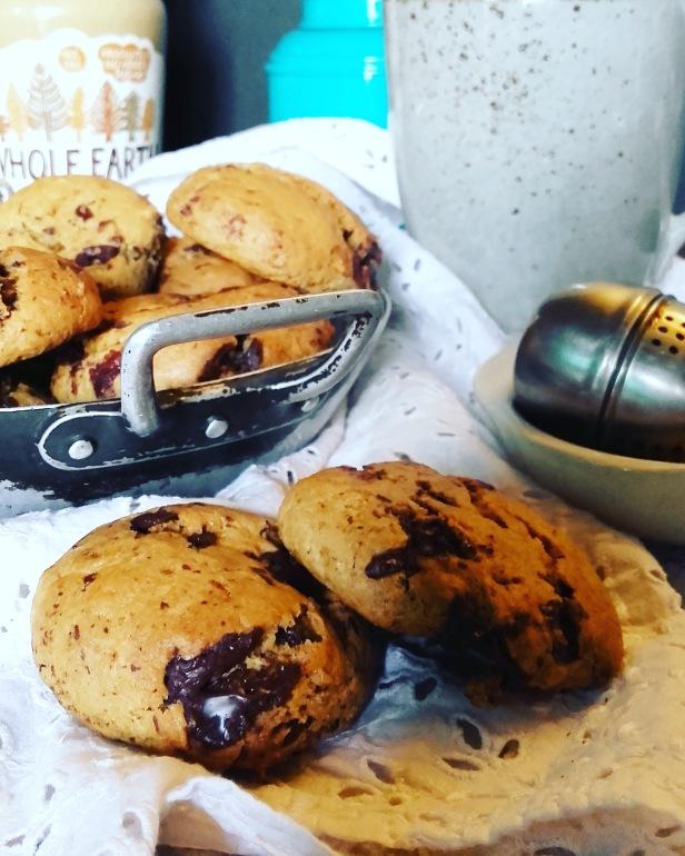 Cookies au beurre de cacahuète et pépites de chocolat (peanut butter cookies)