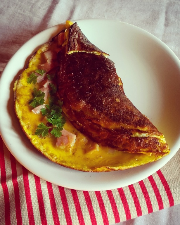 omelette jambon curry
