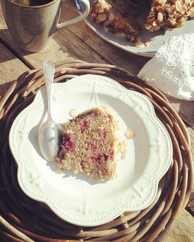 cake amande-framboise